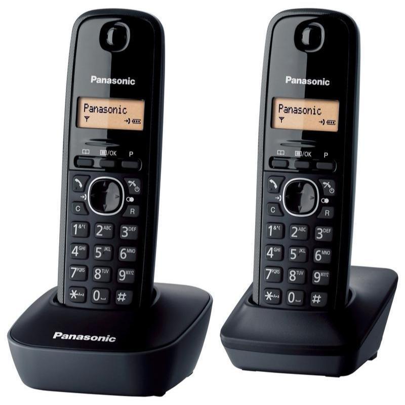 Dagaanbieding - Panasonic dect telefoon KX-TG1612 zwart dagelijkse koopjes