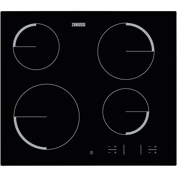 Zanussi ZEV6340FBA Keramische inbouwkookplaat Zwart