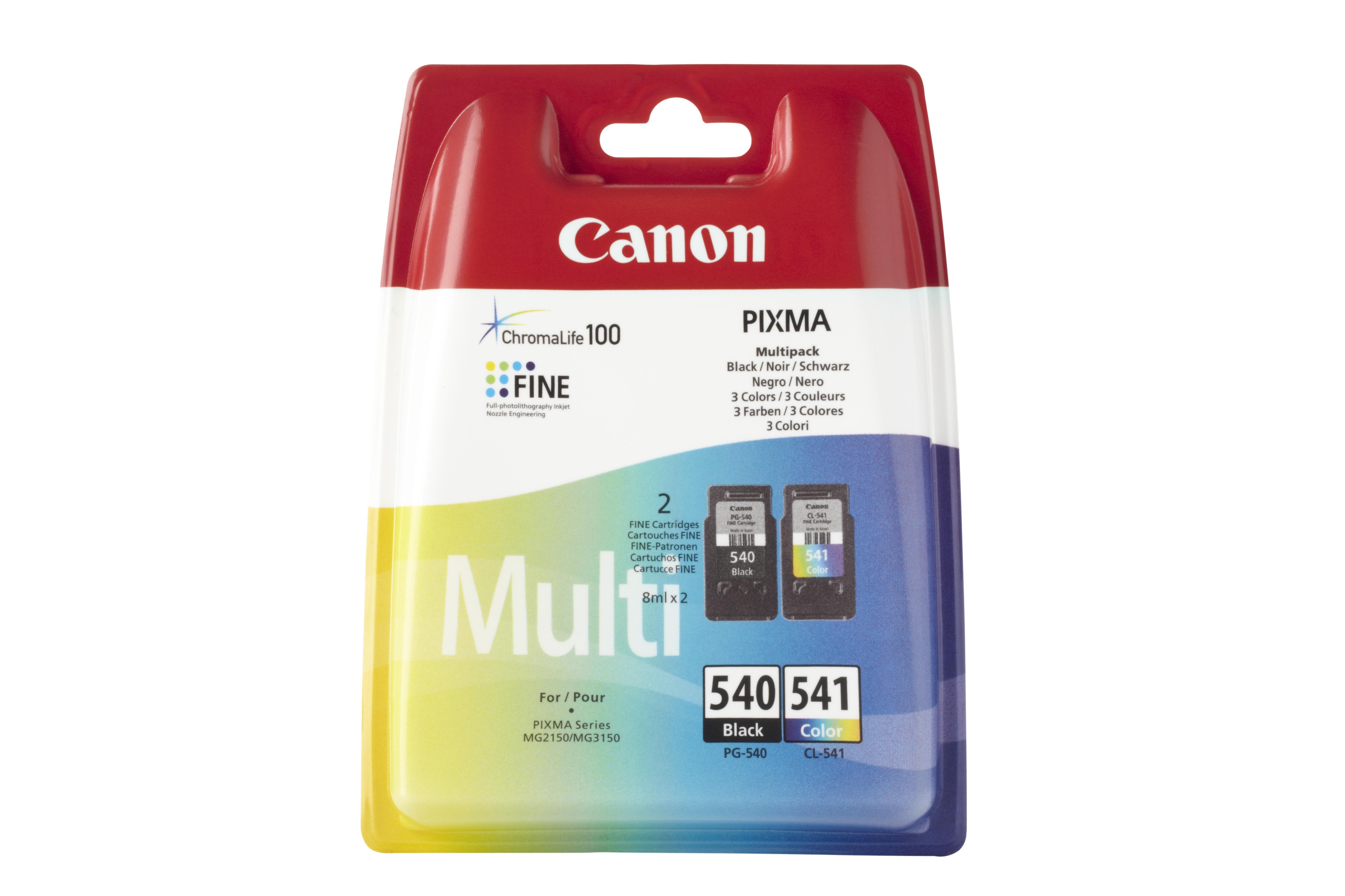 Canon inkt PG 540 en CL 541 multipack