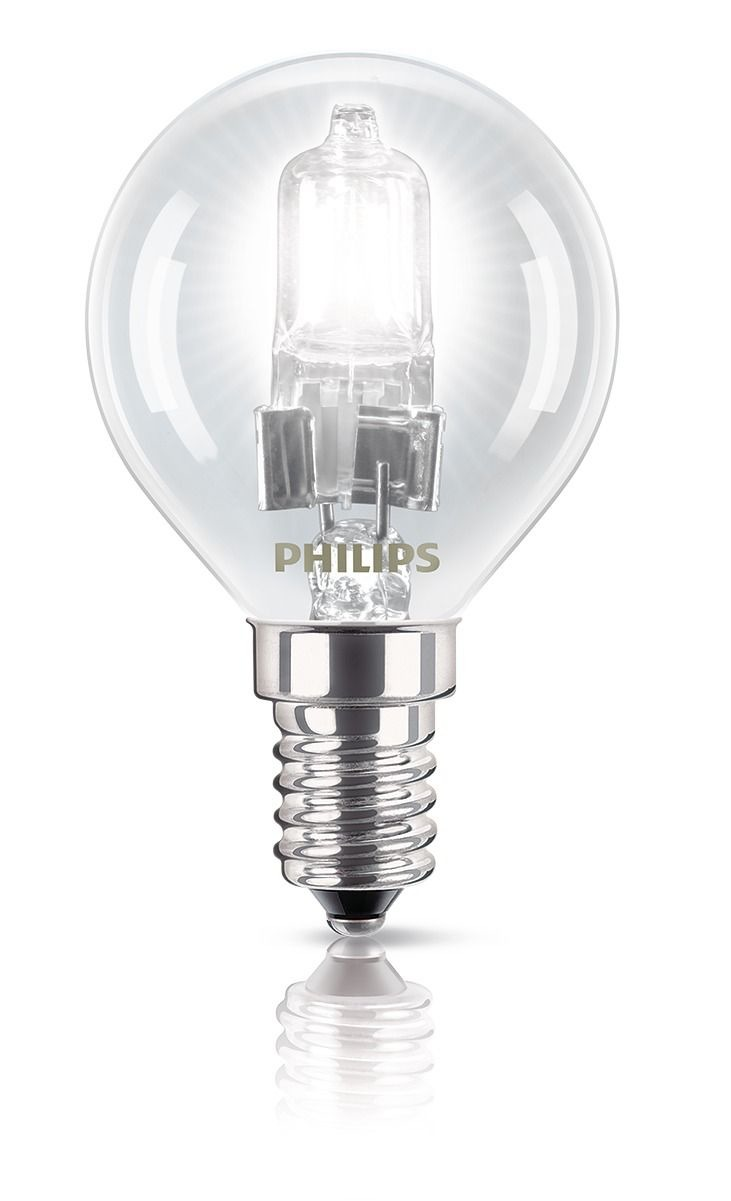 Korting Philips halogeenlamp E14 18W 204Lm kogel