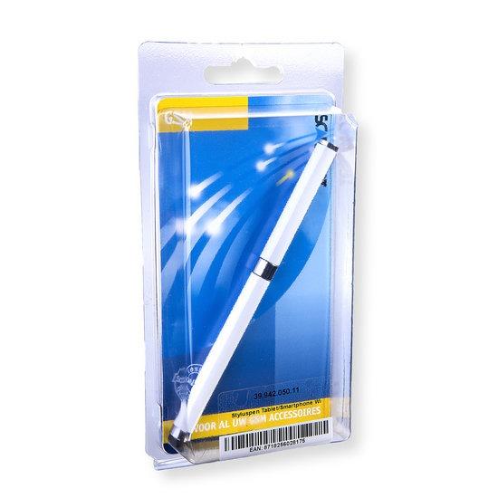 Xccess Capacitive Stylus inclusief Ballpoint White