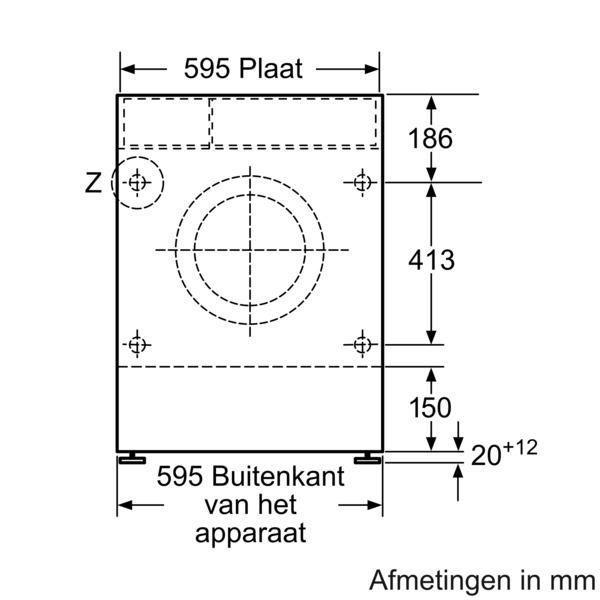 Bosch WKD28541EU inbouw was-droogcombinatie