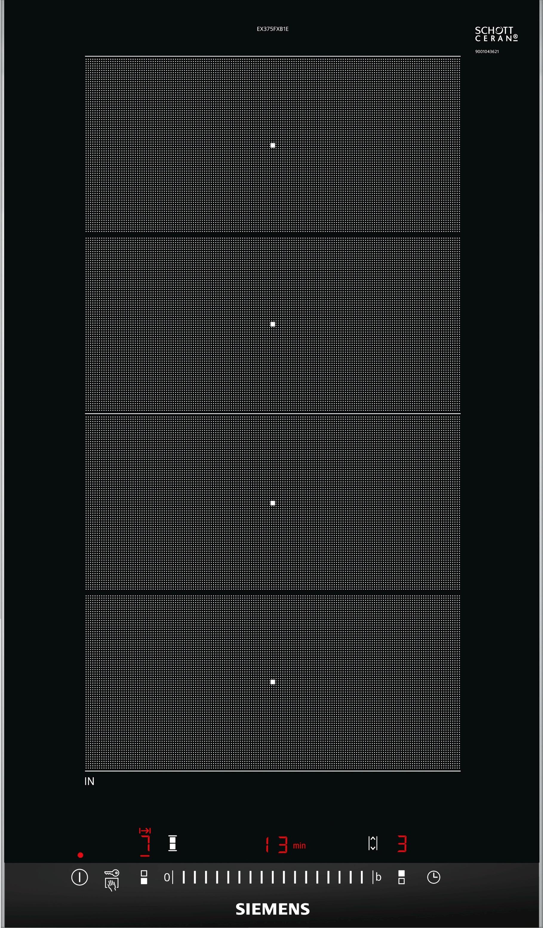 Siemens EX375FXB1E RVS-zwart Keramische Kookplaat