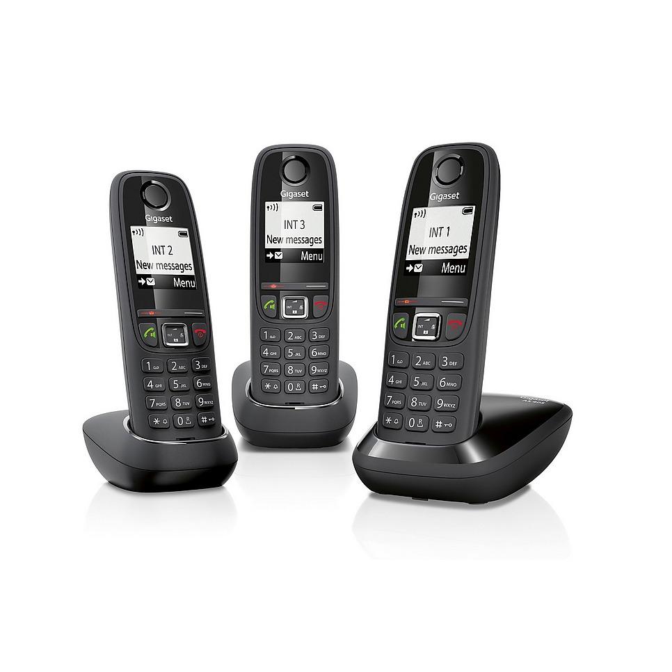 Dagaanbieding - Gigaset dect telefoon AS405 TRIO zwart dagelijkse koopjes