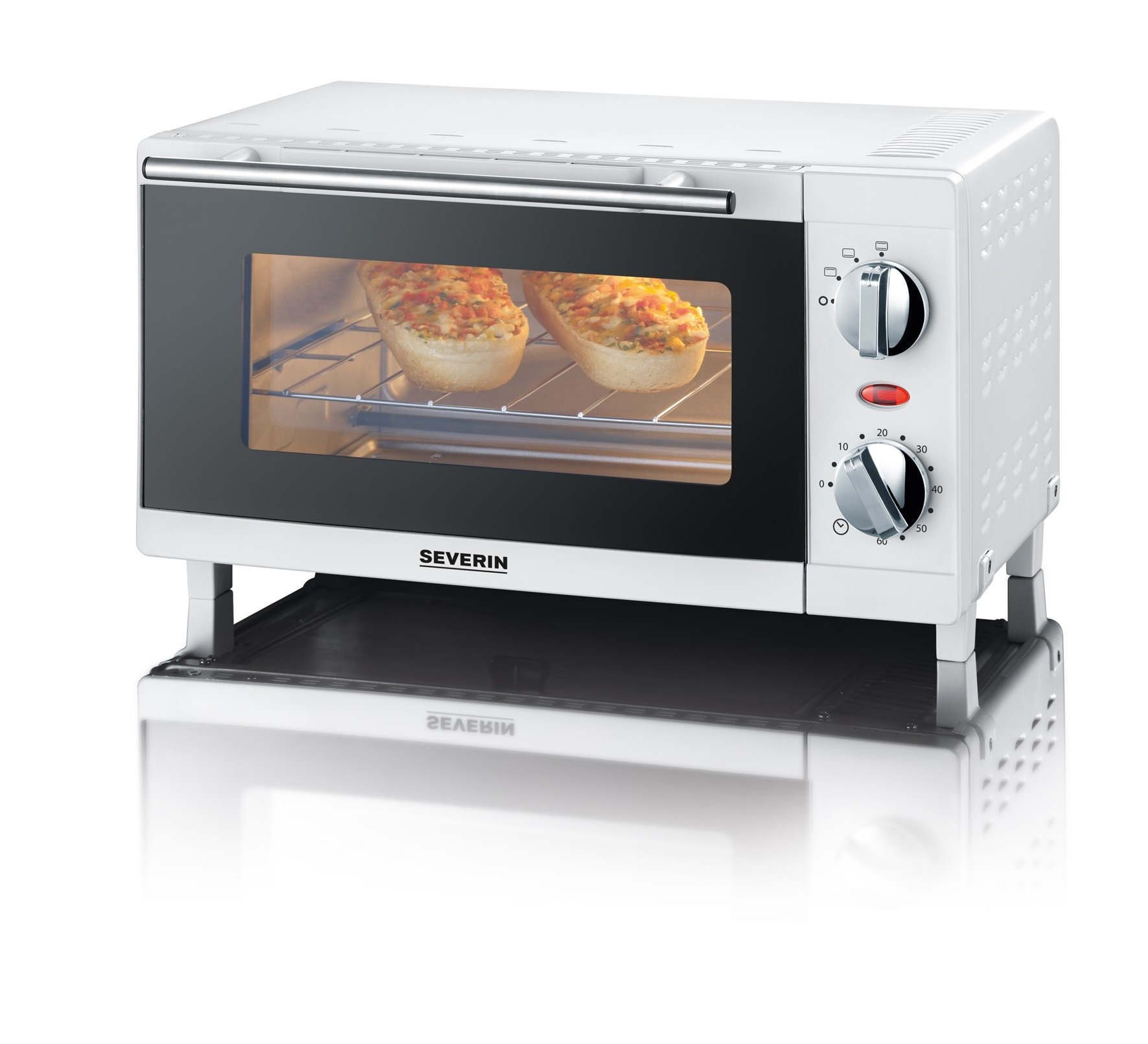 Severin Mini Oven 9 Liter 800 Watt Wit TO 2054 Stuk