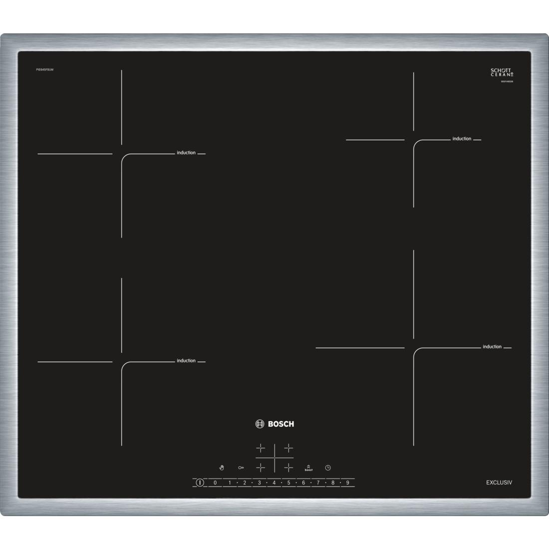 Bosch PIE645FB1M Inductie inbouwkookplaat Zwart