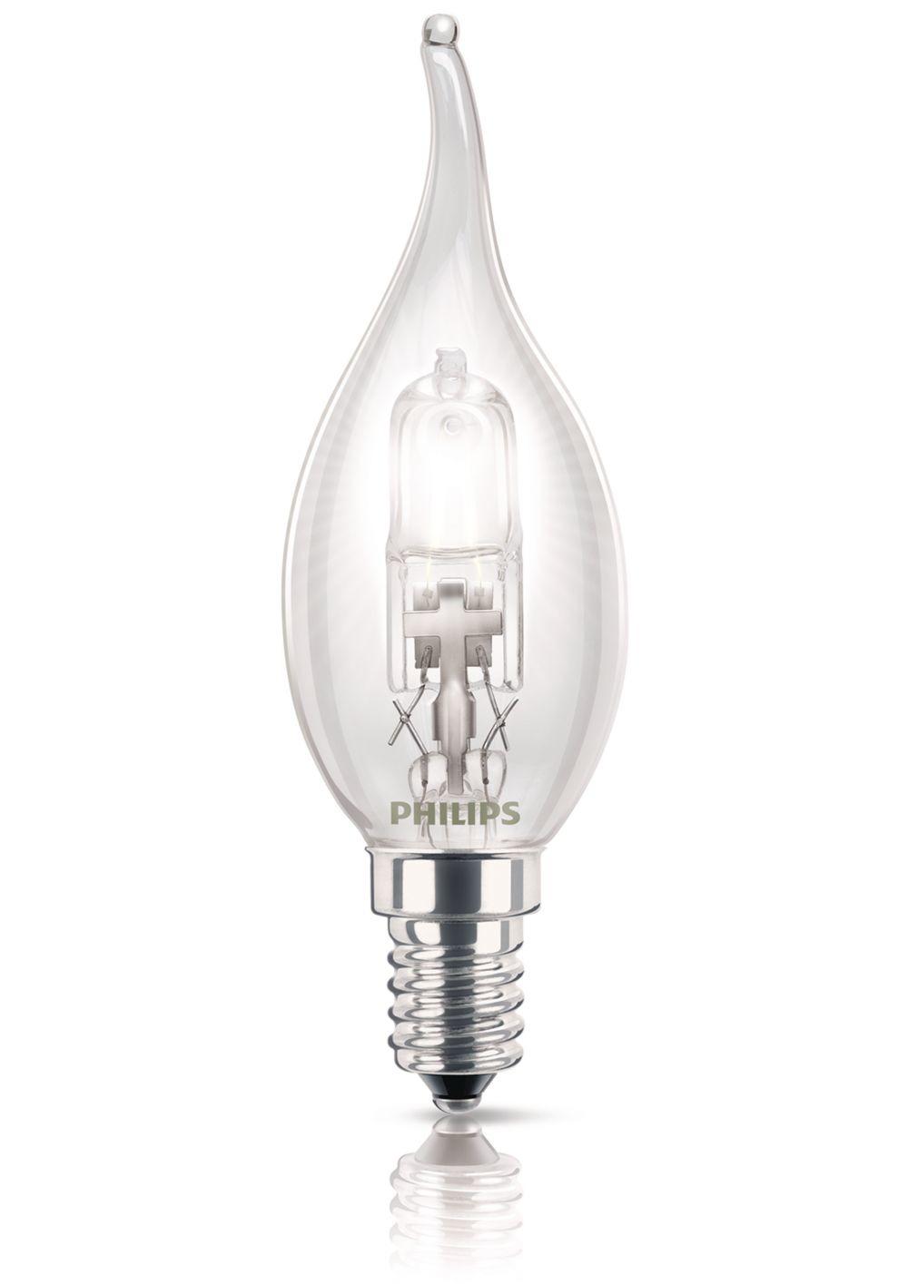 Philips halogeenlamp E14 28W 370Lm kaars met tip
