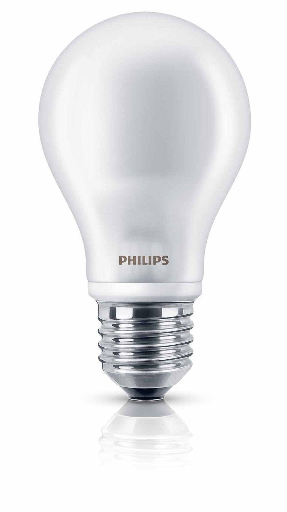 Korting Philips LED lamp E27 6W 470Lm classic mat 2 stuks