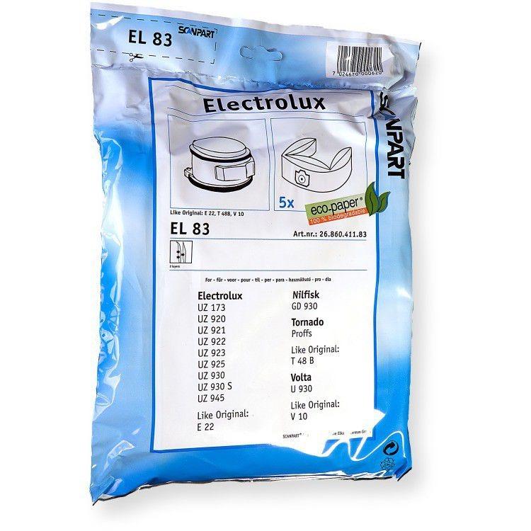Scanpart stofzuigerzak papier (zakje) E22N stofzak