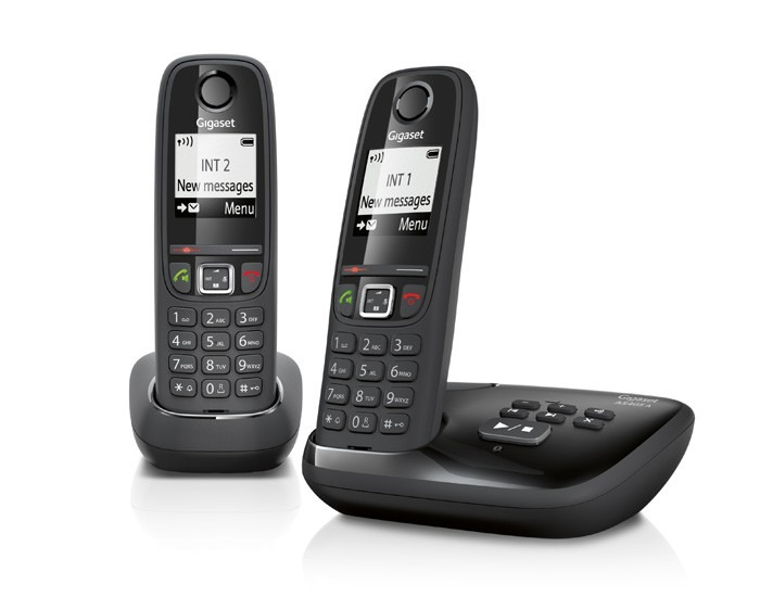Gigaset dect telefoon AS405A DUO zwart