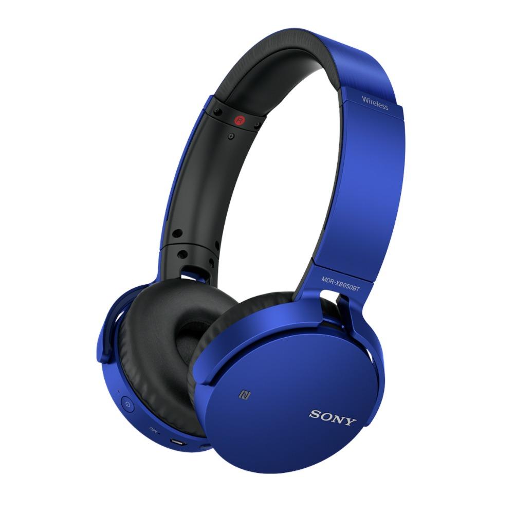 Sony on ear hoofdtelefoon MDR XB650BT blauw