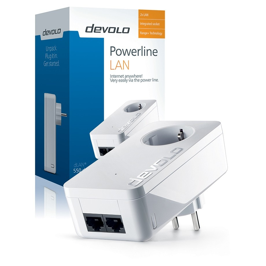 Devolo 550 duo+ Powerline powerline