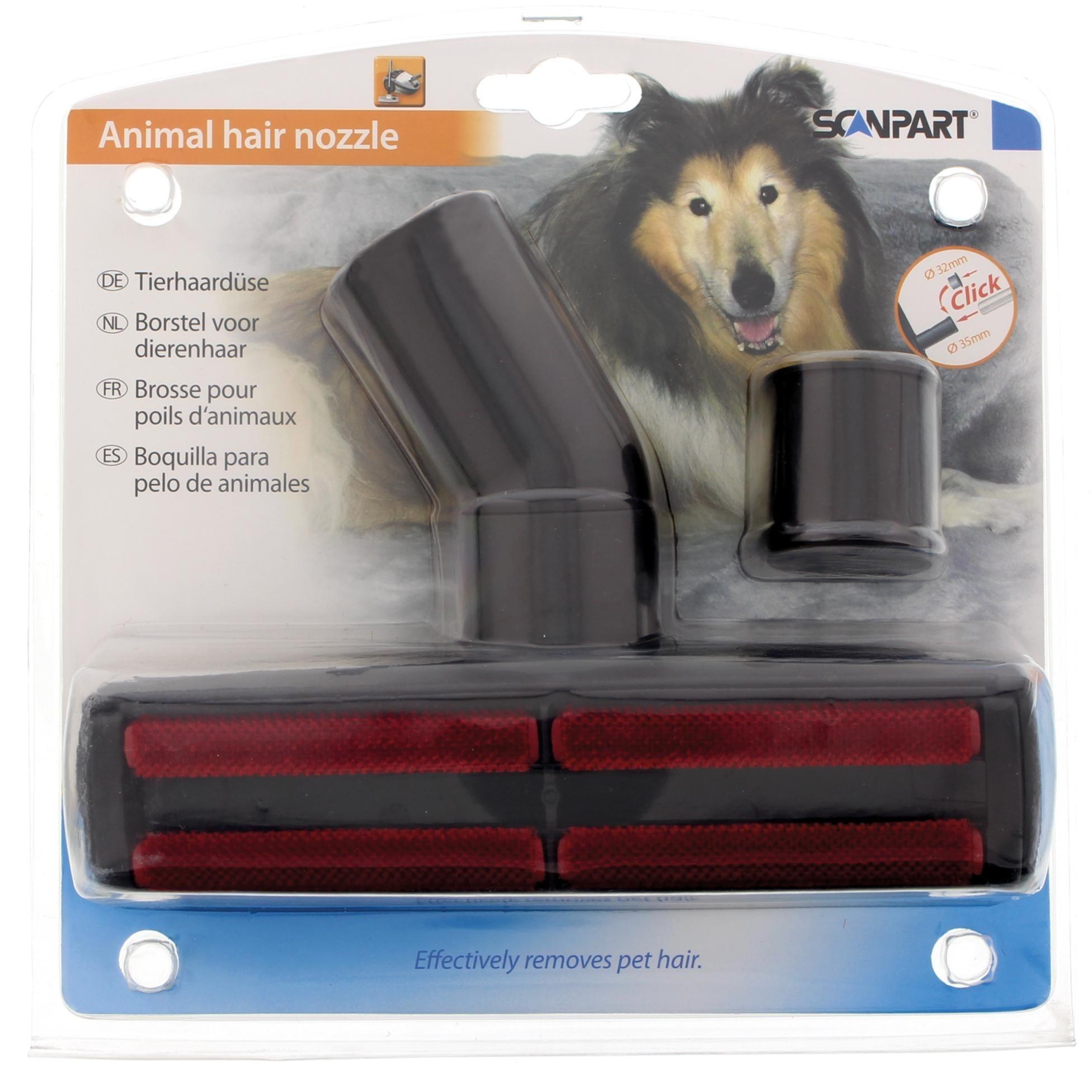Korting Scanpart honden en kattenhaarborstel 32 plus 35mm borstel