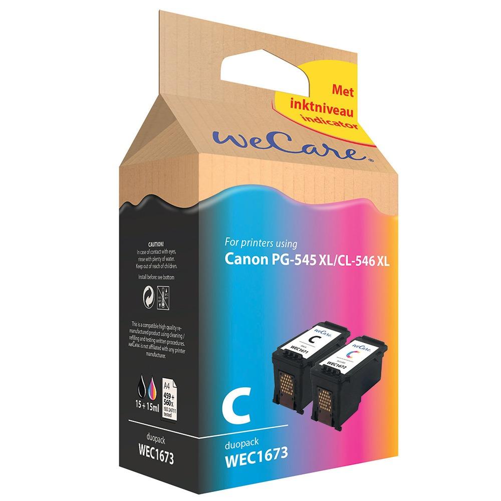 Wecare inkt cartridge Canon duopack zwart + kleur
