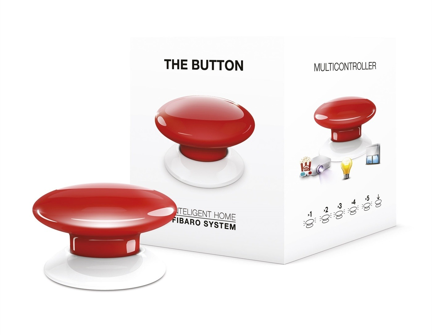 Fibaro smart home accessoire The Button rood