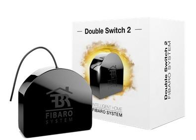 Image of Fibaro schakelaar Double Switch 2 zwart