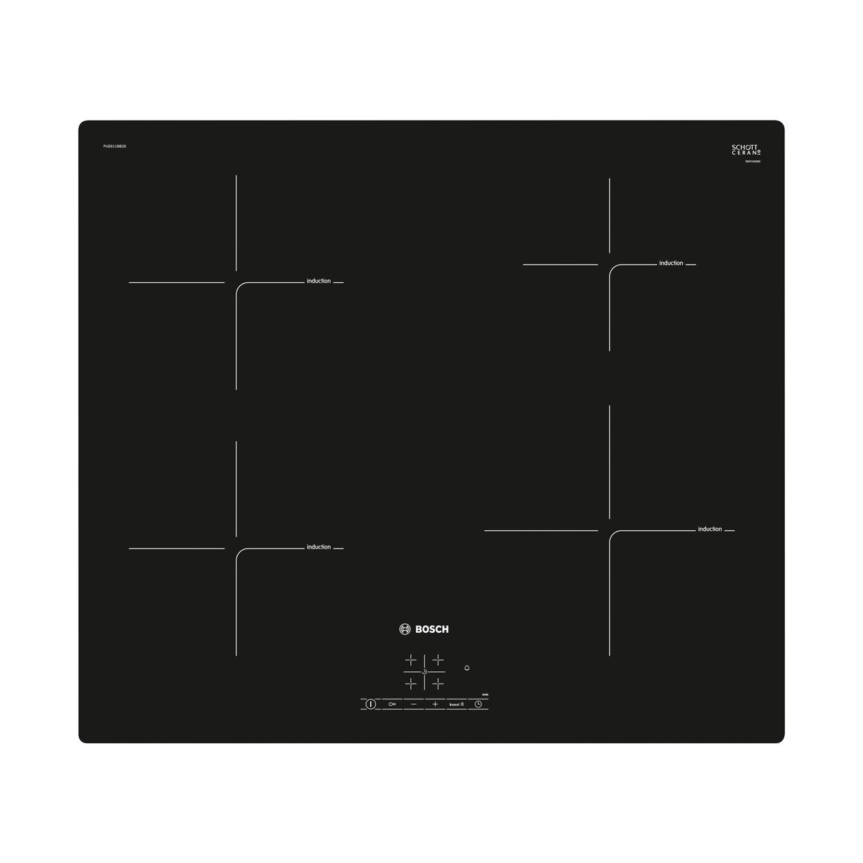 Bosch PUE611BB2E inductie inbouwkookplaat