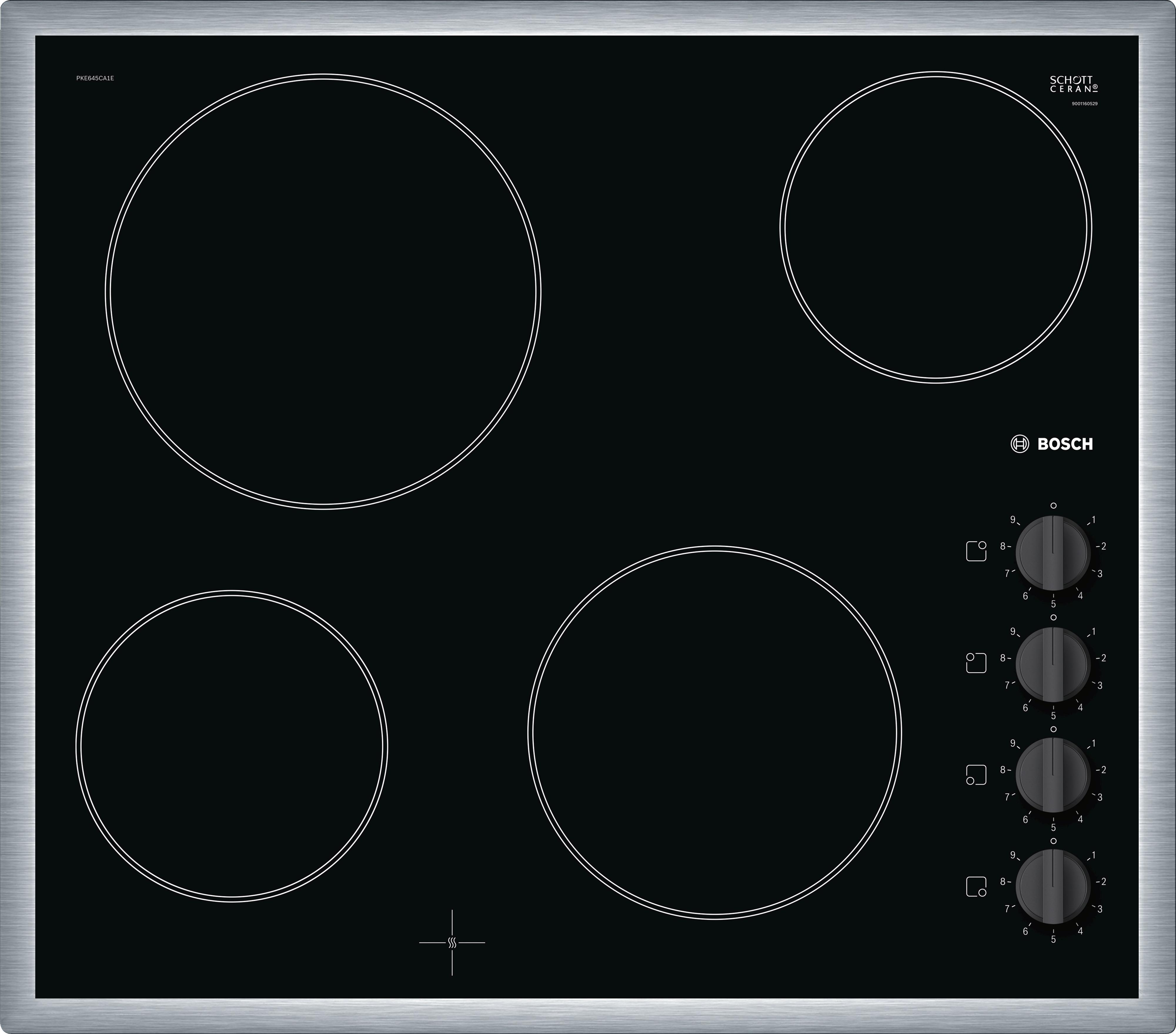 Bosch PKE645CA1E Keramische inbouwkookplaat Zwart