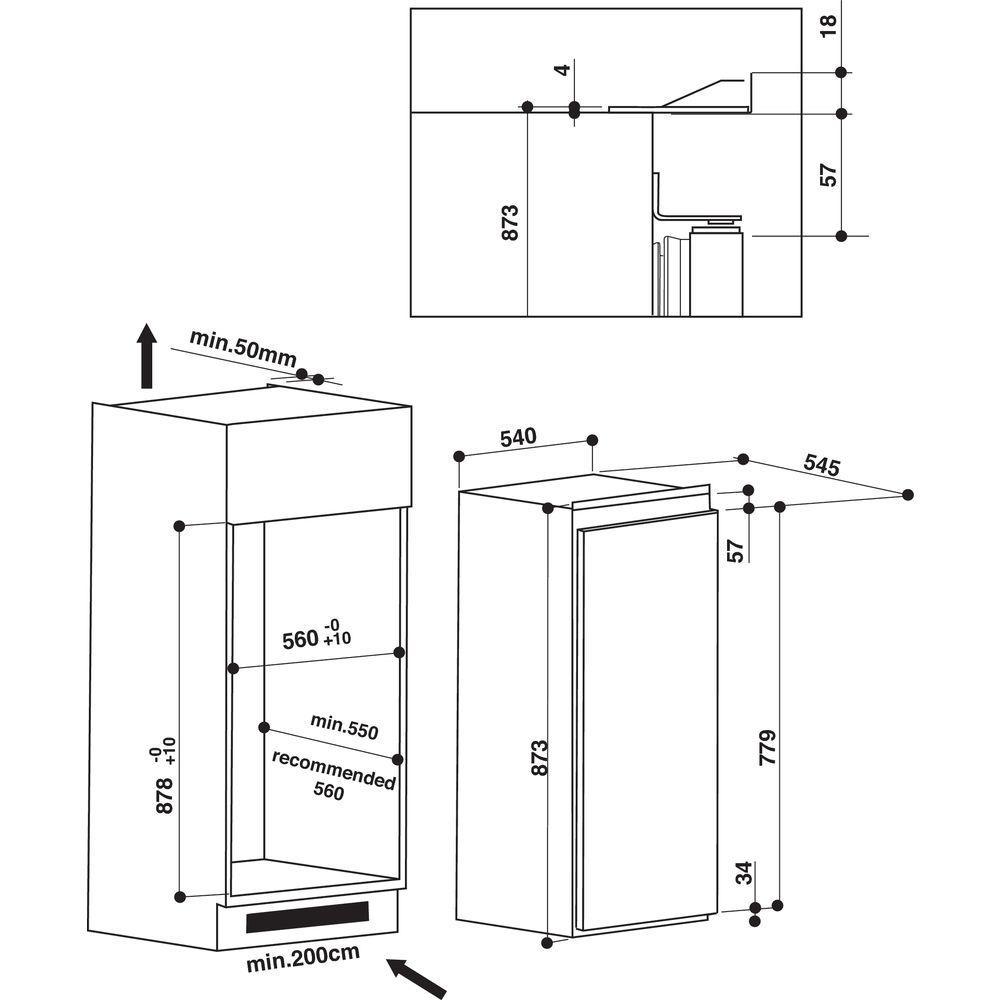 Whirlpool AFB 9720 A+ inbouw vriezer - Prijsvergelijk