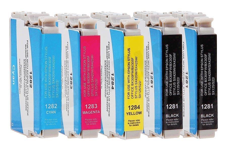 Easyfiks inkt T1285 Multipack BK/BK/C/M/Y Stylus S22, Office BX305F