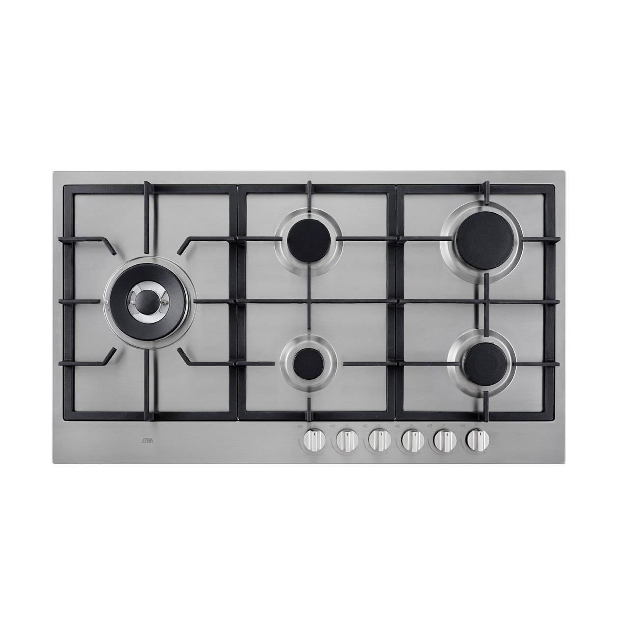 Etna KGF889RVSA Gas inbouwkookplaat Aluminium