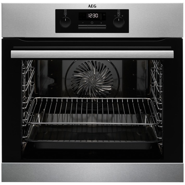 AEG BPB331020M Inbouw oven Aluminium