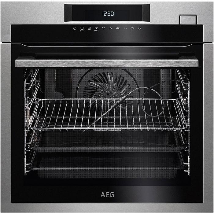 AEG BSE782220M SteamBoost Inbouw oven Aluminium