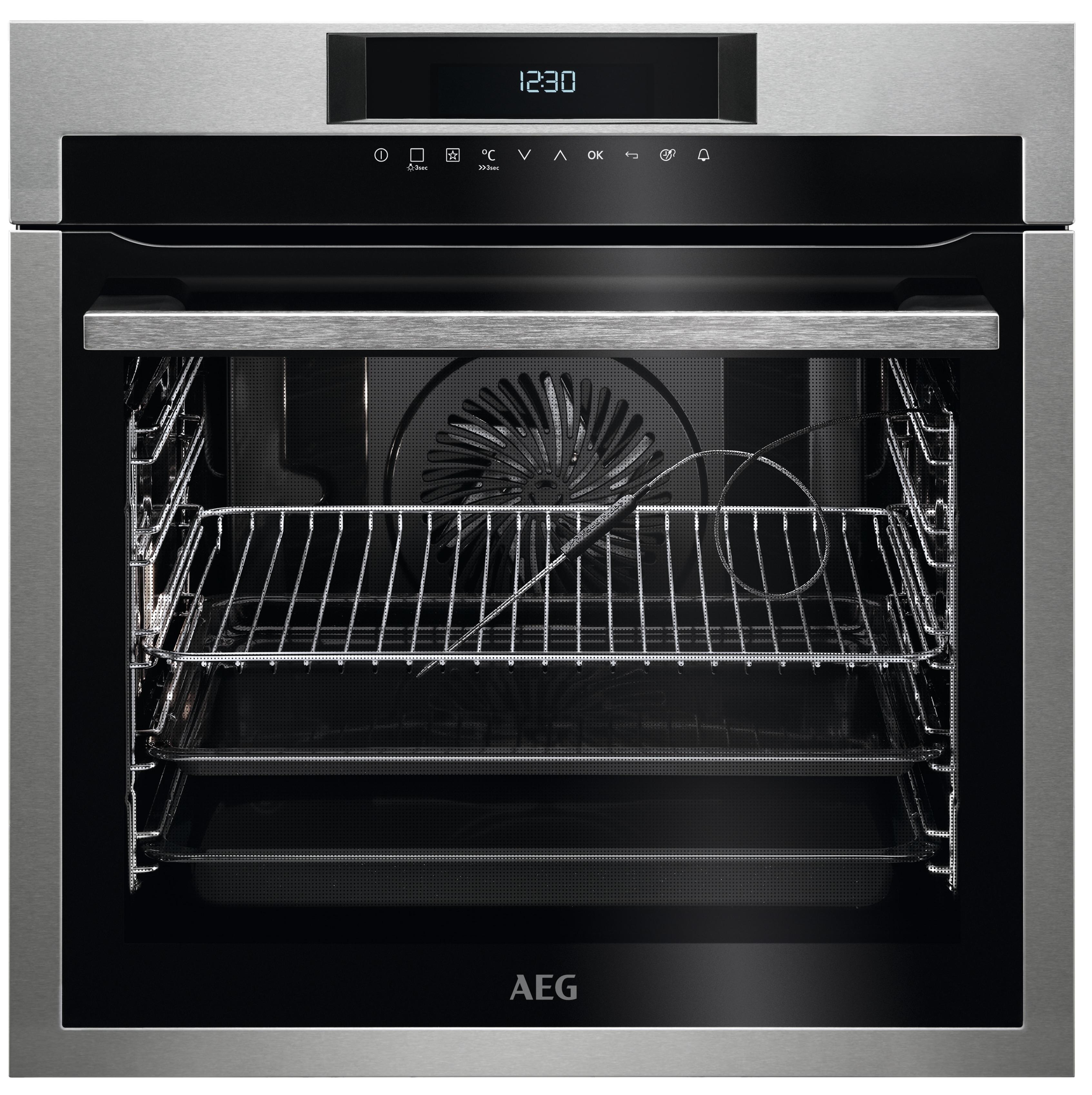 AEG BPE742220M SenseCook Inbouw oven Aluminium