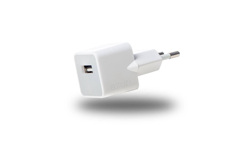 Afbeelding van Azuri oplader Thuislader 1 x USB 1Amp wit