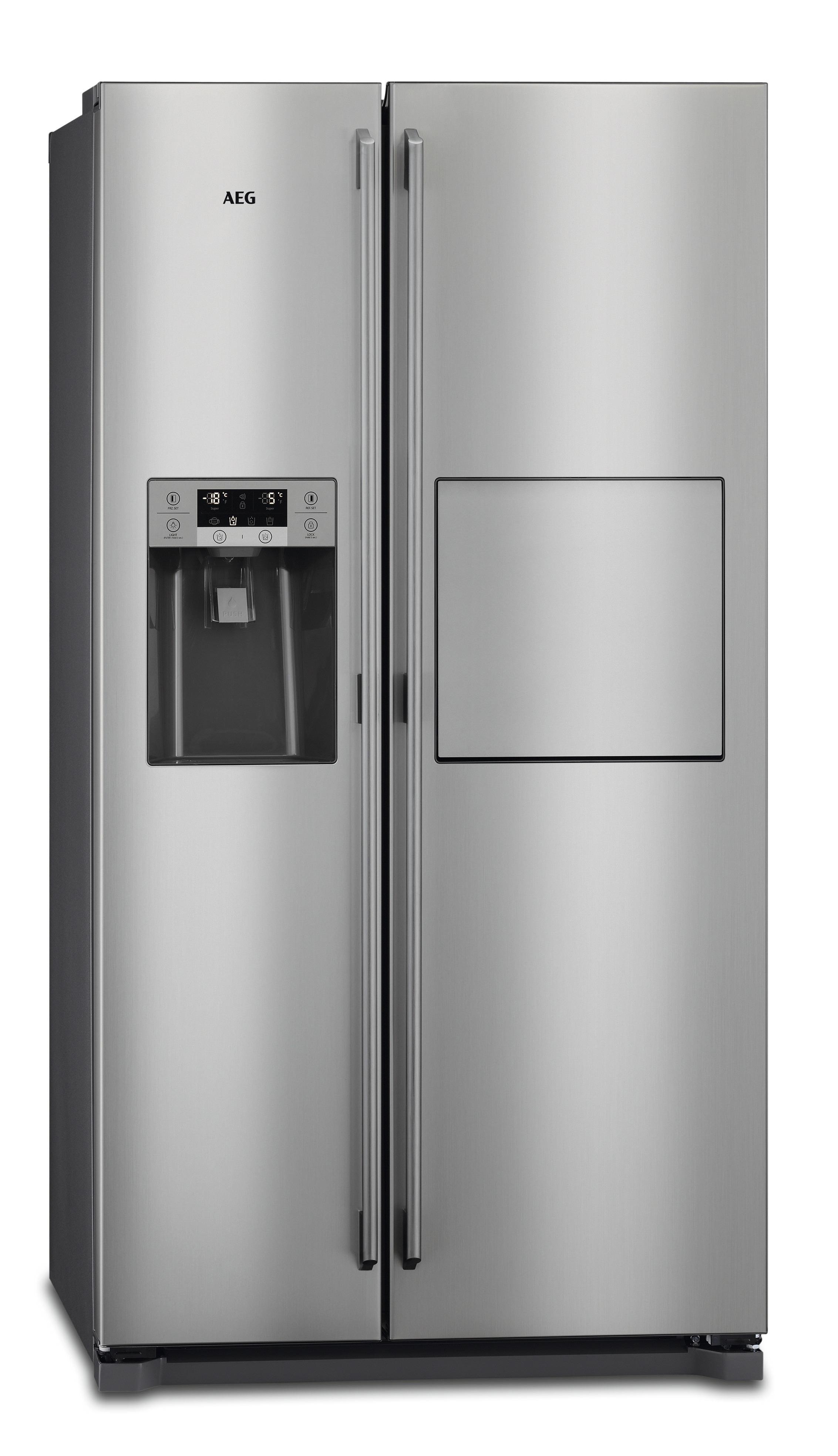 AEG RMB66111NX Amerikaanse koelkast Aluminium