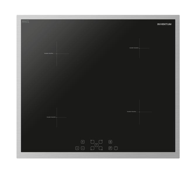 Inventum IKI6032 Inductie inbouwkookplaat Zwart