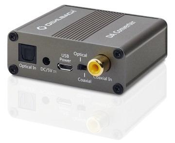 Foto van Oehlbach Digitaal-analoogconverter, coaxiale en optische ingang voor digitaal signaal TV accessoire