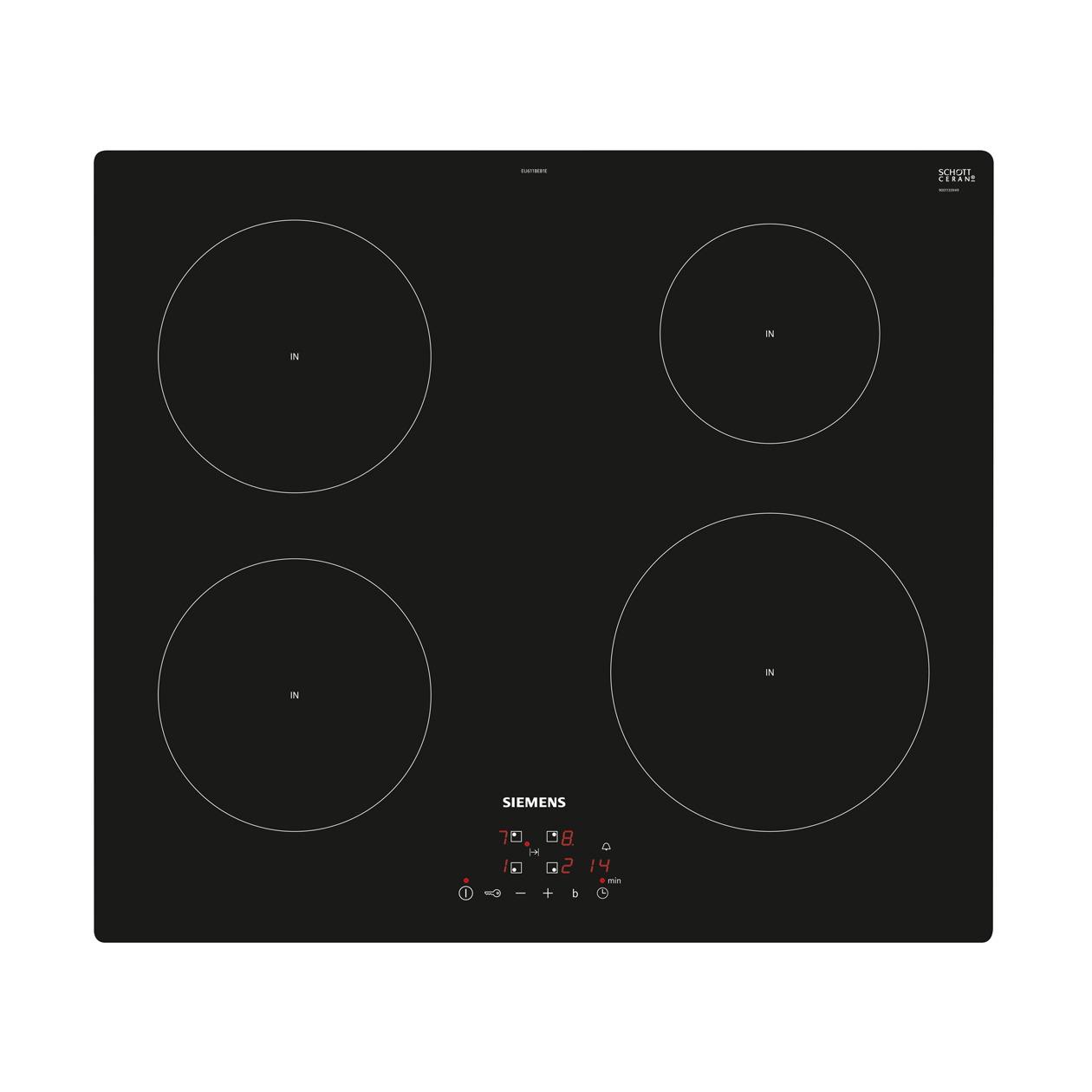 Siemens EU611BEB1E Inductie inbouwkookplaat Zwart