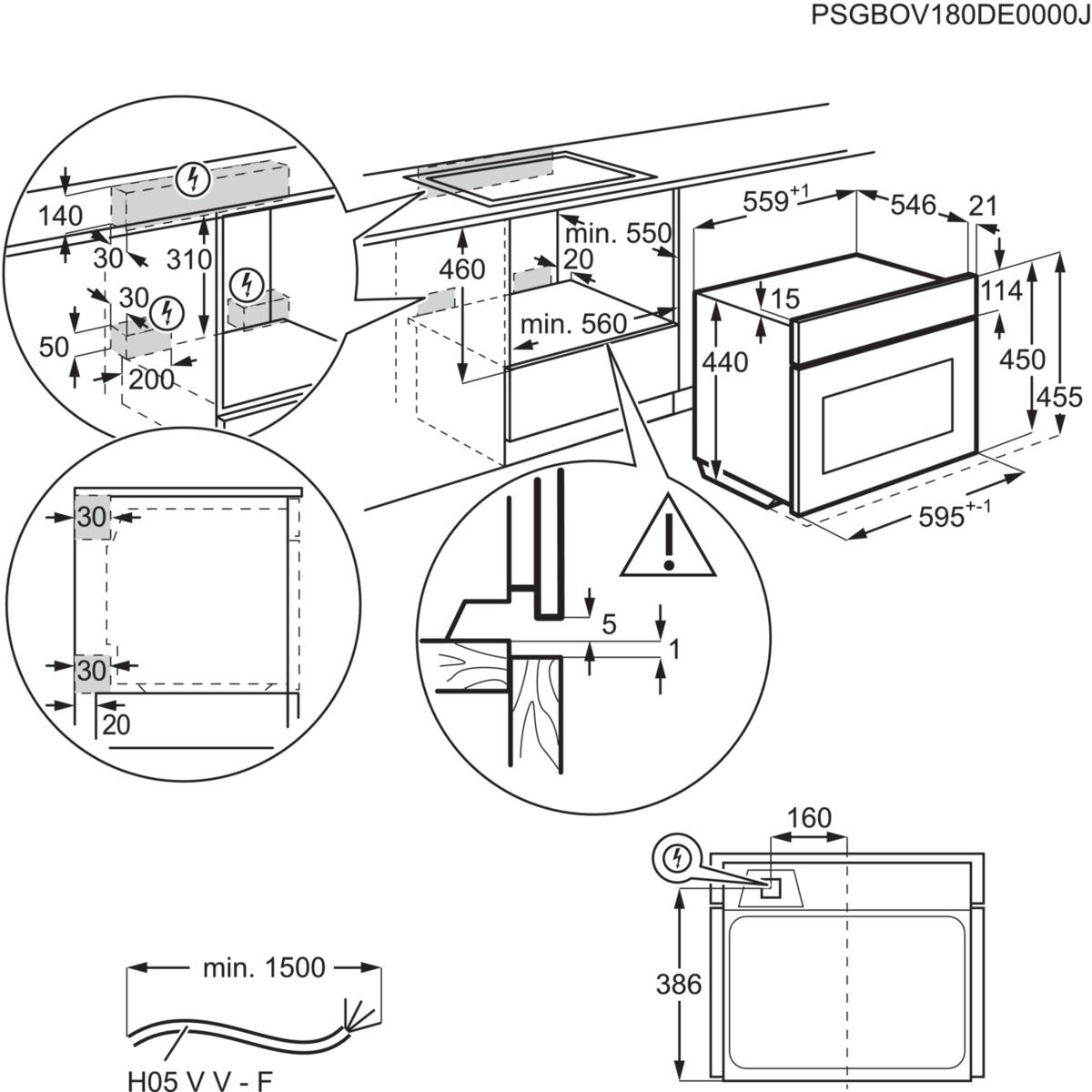 Zanussi ZKG44500XU Inbouw oven