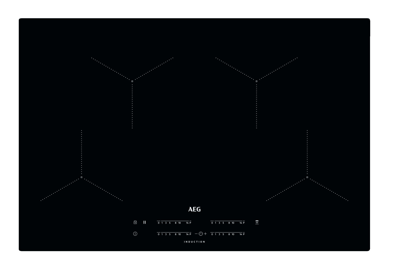 AEG IKB84431IB Inductie inbouwkookplaat Zwart