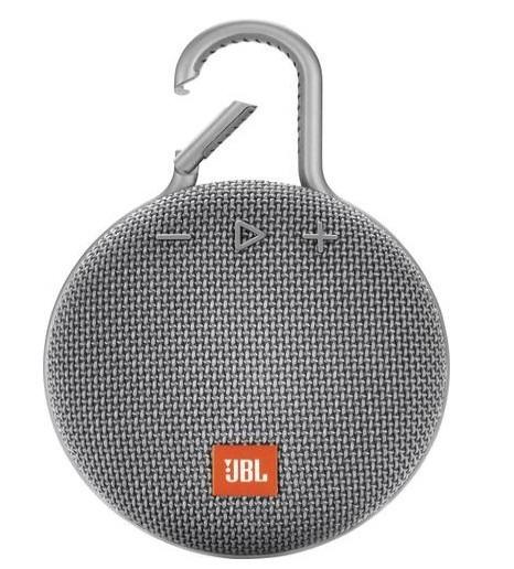 JBL Clip 3 Bluetooth luidspreker Handsfree-functie, Outdoor, Spatwaterdicht Grijs