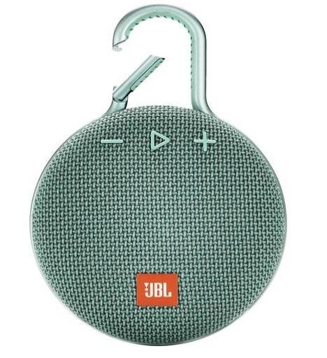 Image of JBL bluetooth speaker Clip 3 turquoise