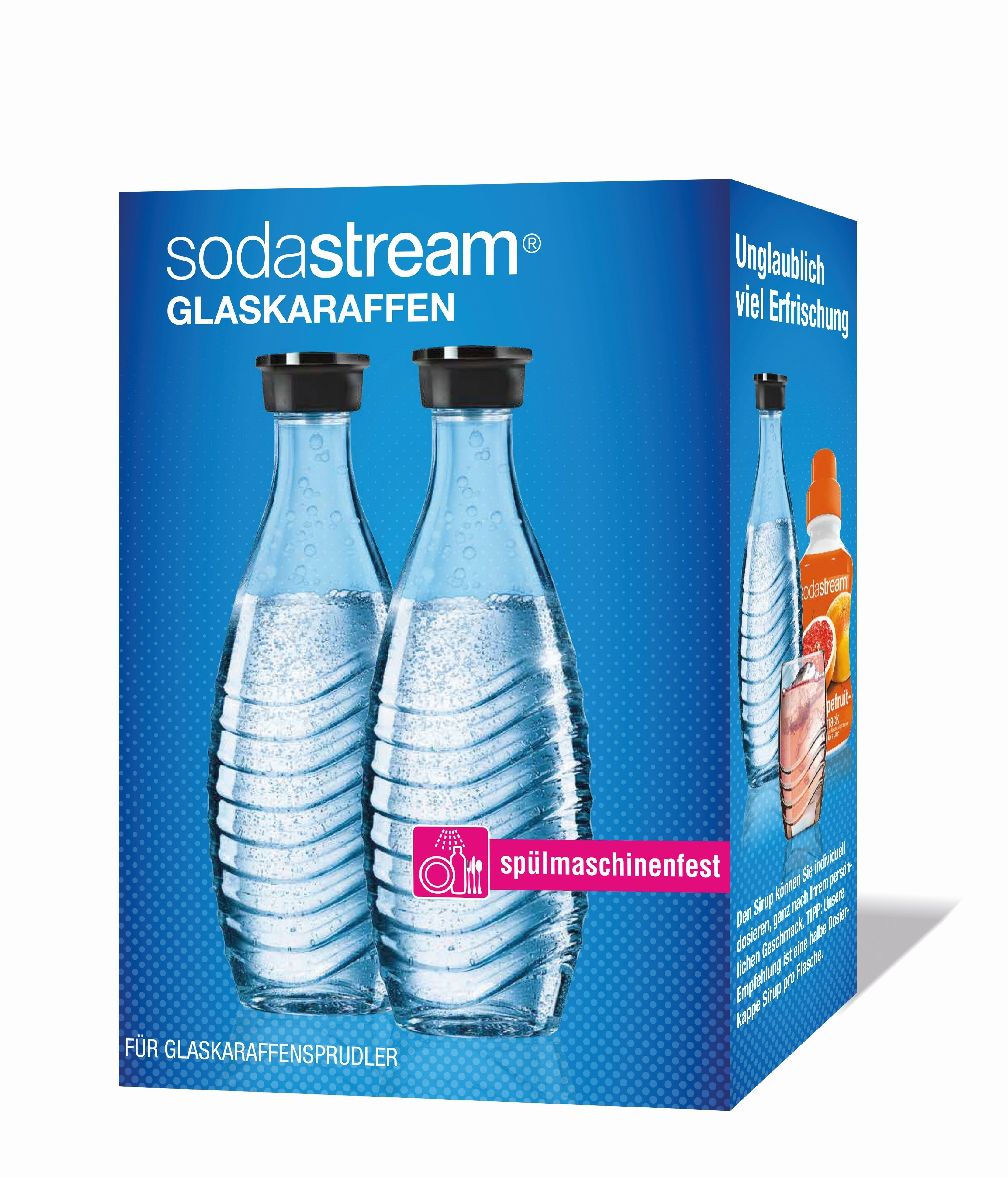 Sodastream waterkan Glazen karaf Duopack 1ltr