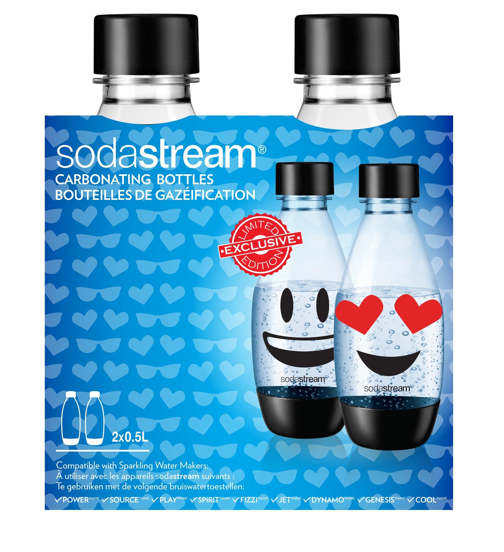 Sodastream waterkan Duopack 05L herbruikbare fles Emoji