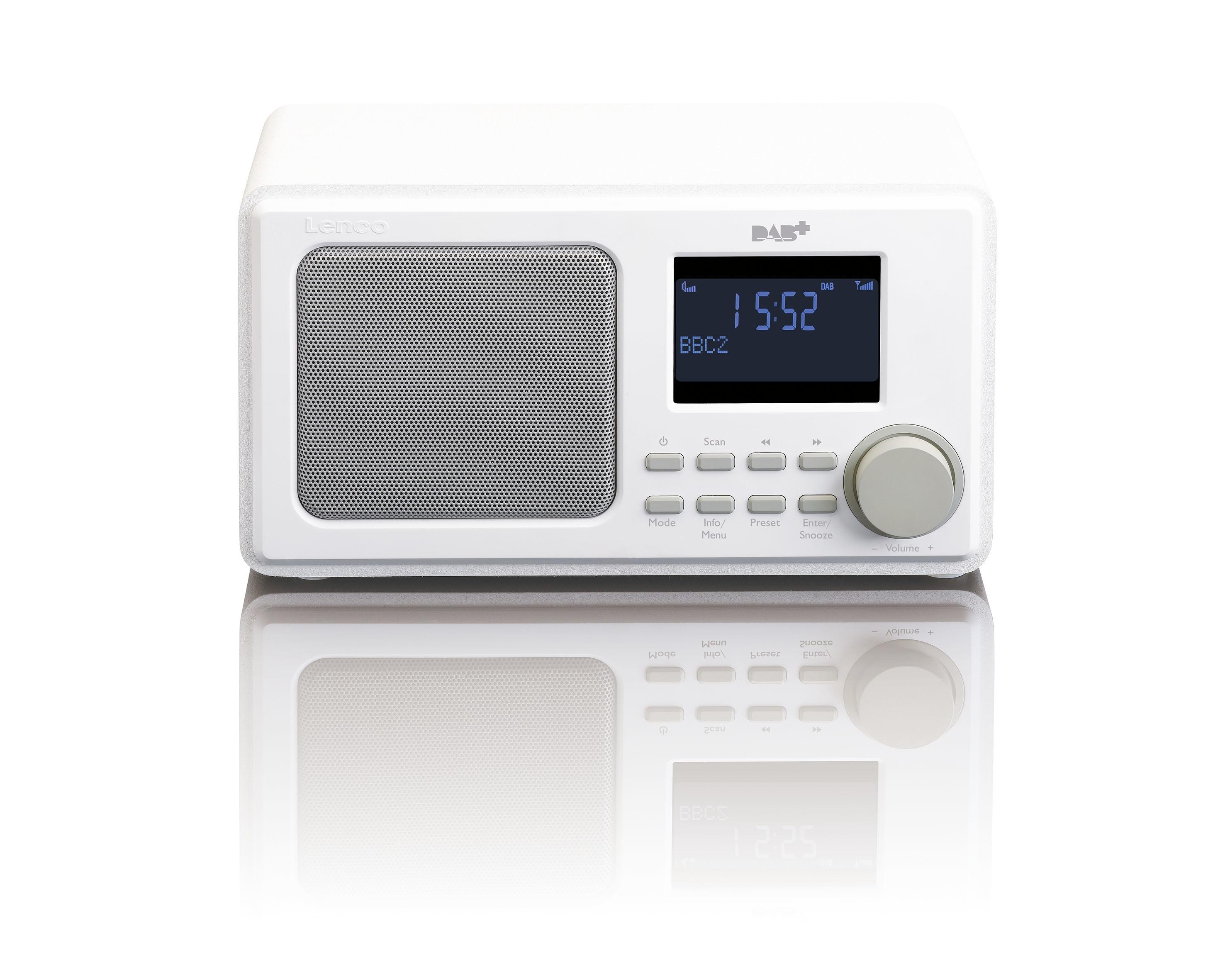 Lenco DAR-010 DAB radio Wit
