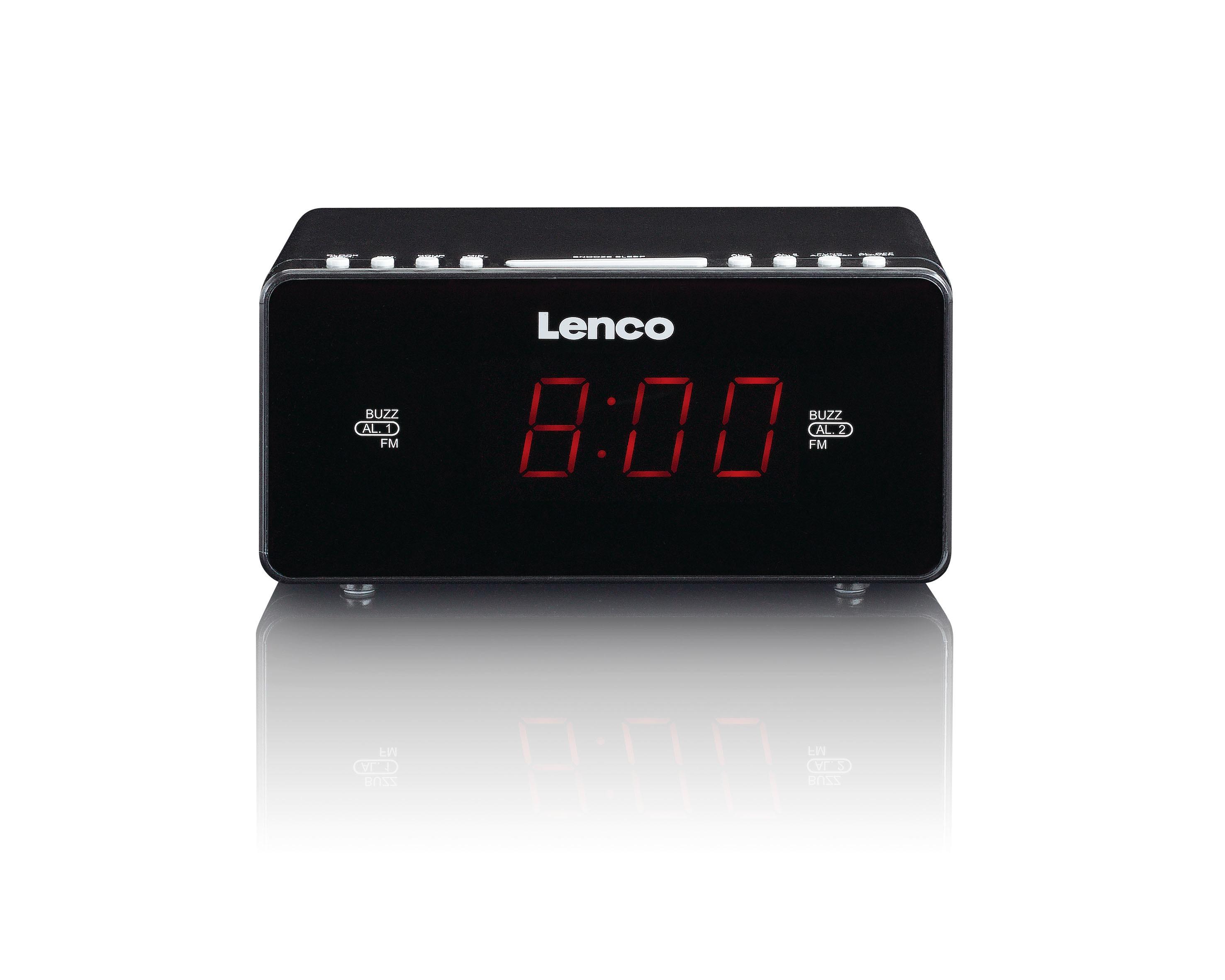 Lenco wekker radio CR 510 zwart