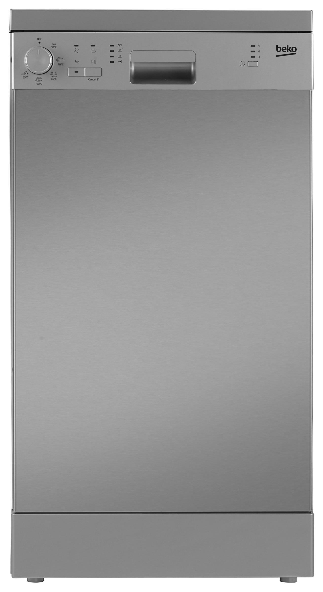 Beko vrijstaande vaatwasser DFS05013X grijs