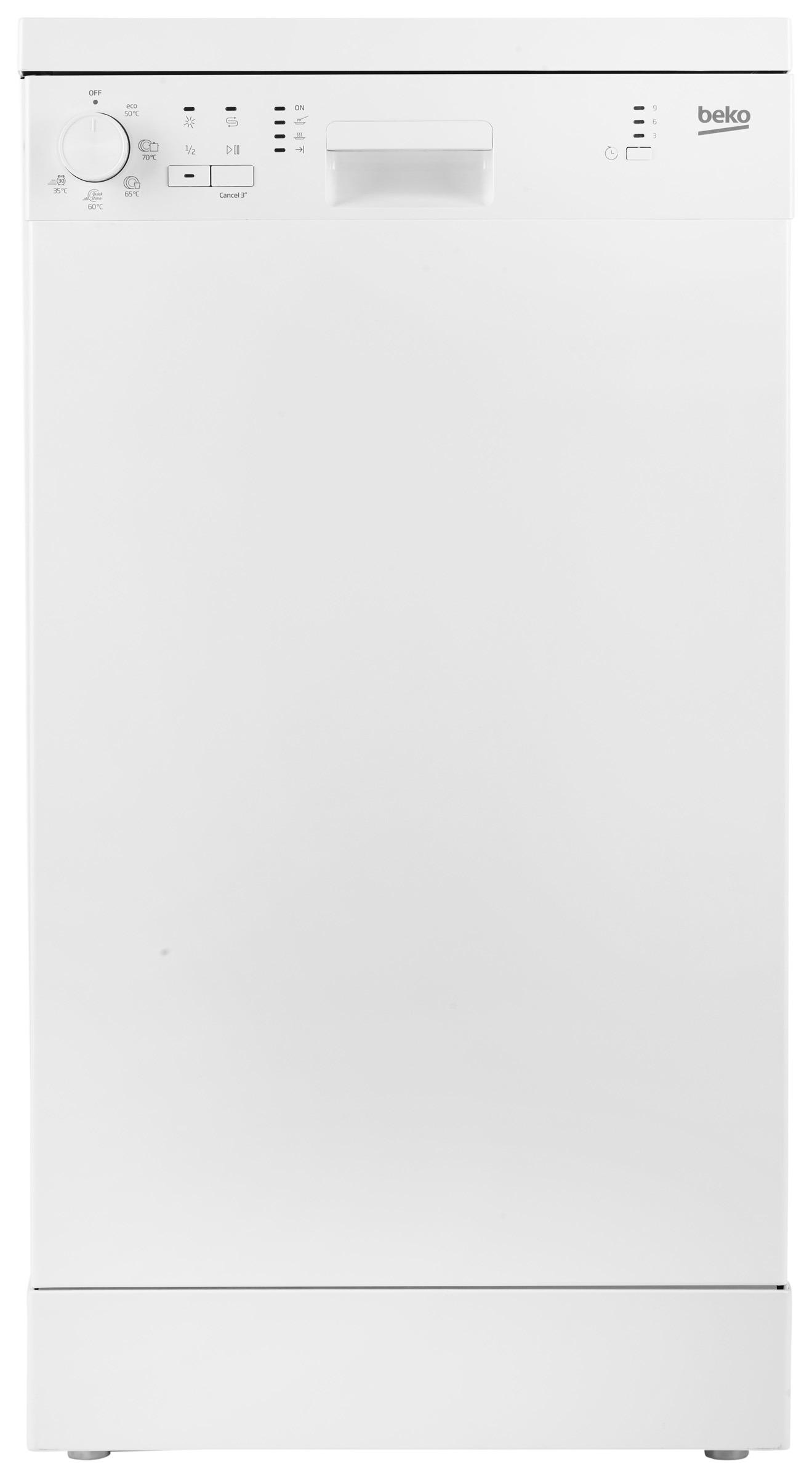 Beko vrijstaande vaatwasser DFS05013W wit