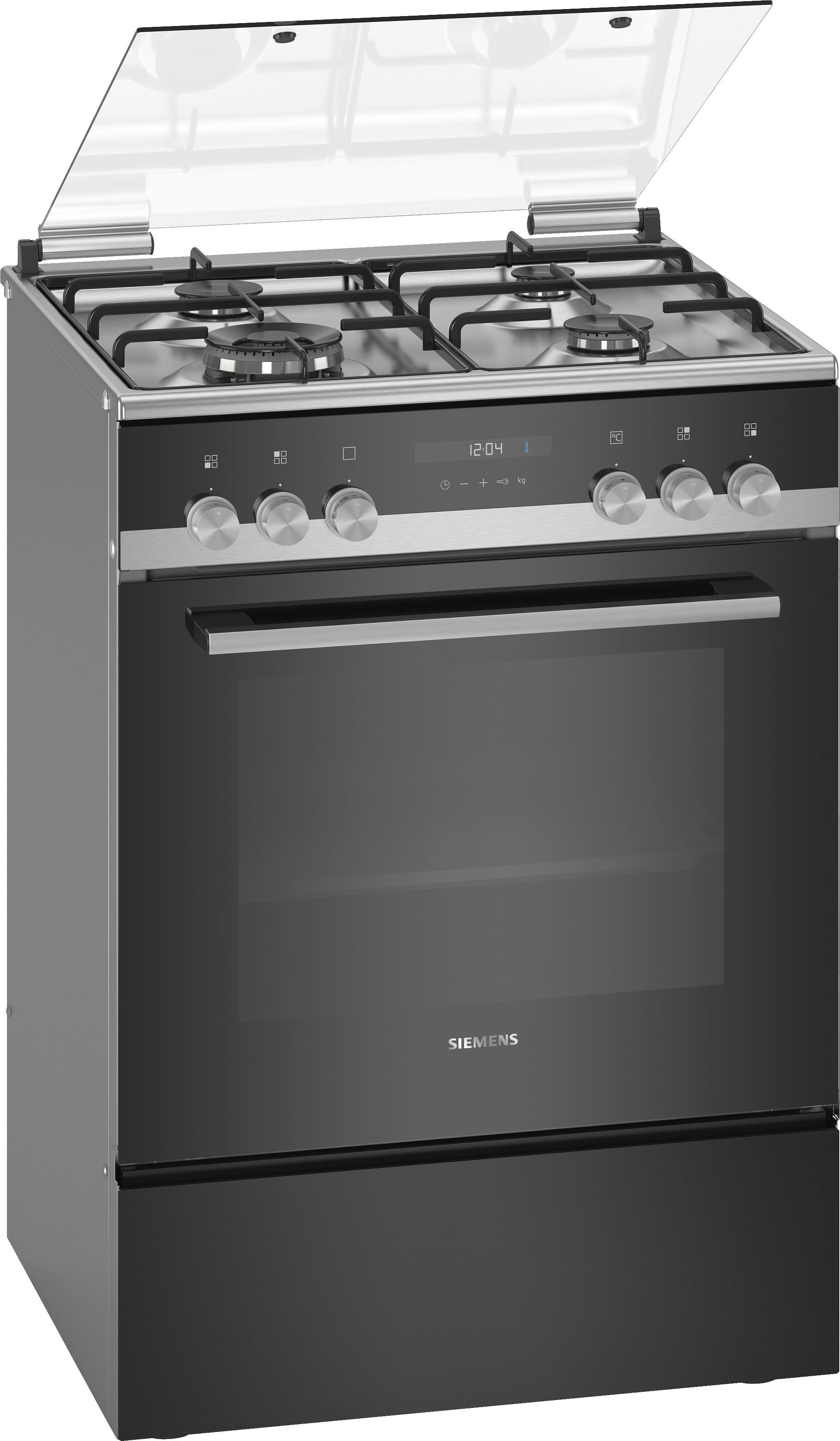 Siemens gasfornuis HX9S5IH40N rvs zwart