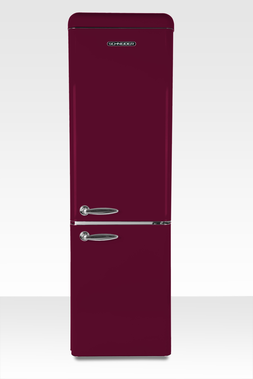 Schneider koelkast met vriesvak SL 250 R CB A++ Wine Red Matt