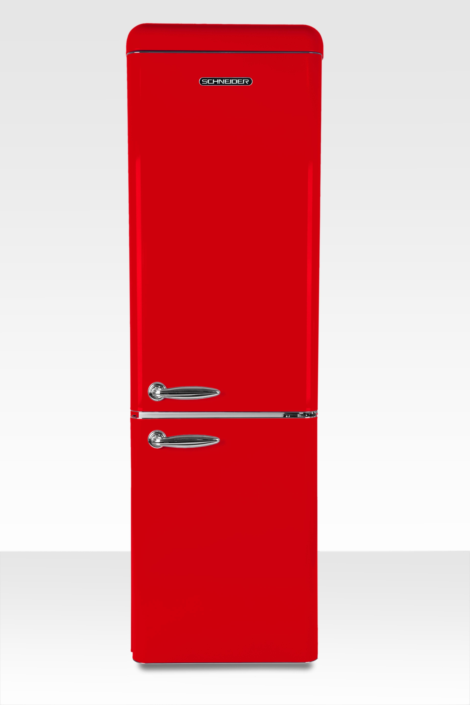 Schneider koelkast met vriesvak SL 300 FR CB A++ Fire Red