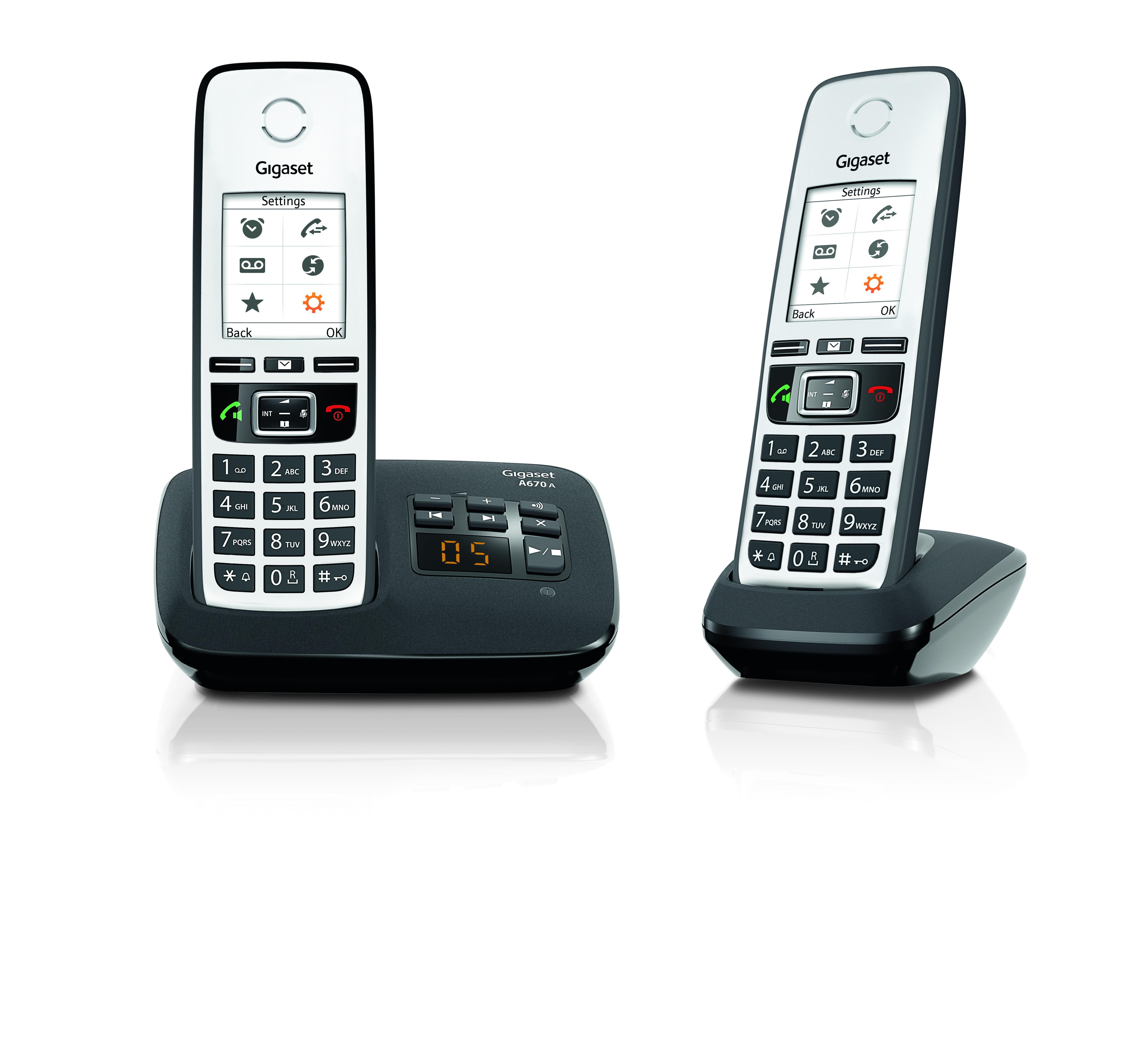 Gigaset A670A DUO Dect telefoon Zwart