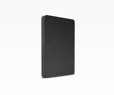Toshiba externe harde schijf Canvio Alu 2018 1TB zwart