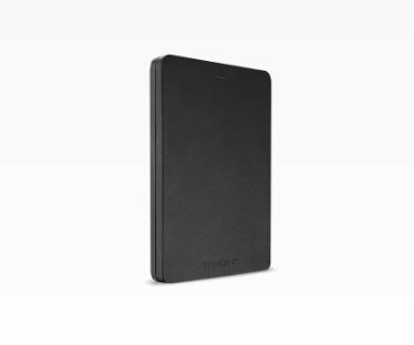 Toshiba externe harde schijf Canvio Alu 2TB zwart