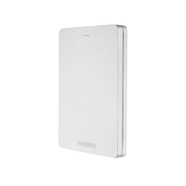 Toshiba externe harde schijf Canvio Alu 2TB zilver
